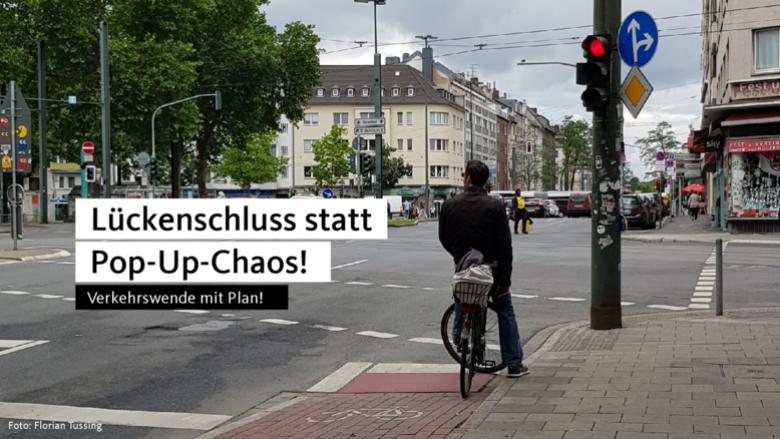 Am Worringer Platz ist für Radfahrer Schluss.