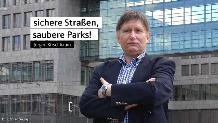 Jürgen Kirschbaum wirbt für sichere Straßen und saubere Parks