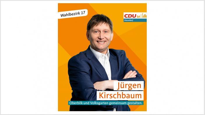Portrait von Jürgen Kirschbaum mit Schriftzug